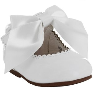 Bruidmeisje schoen strik wit ivoor 17-27