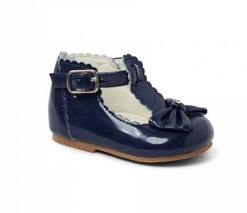 Luxury Sally feest schoentjes strik diamand blauw