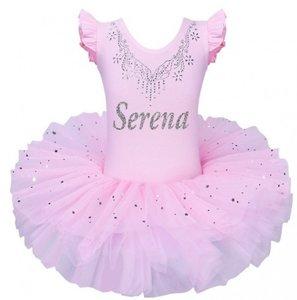 Balletpakje Tutu Roze Sparkle Style met Naam maat 92-140 NEW