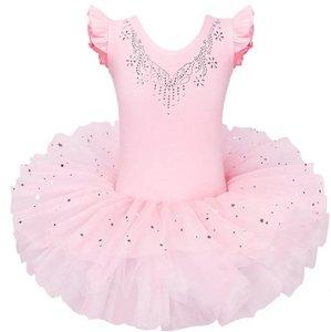 Balletpakje peach roze tutu Sparkle Style maat 92-140 NEW
