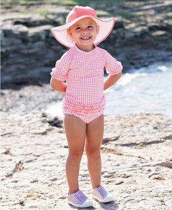 bikini lange mouw UV bescherming Rose Gingham 56-140 NEW