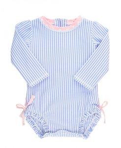 baby zwempakje lange mouw blauw wit roze 56-92