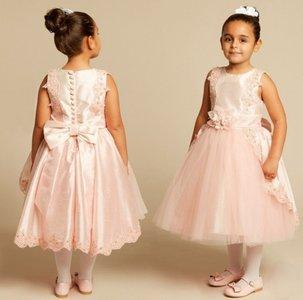 Feestjurk Spanisch Style roze maat 92-128