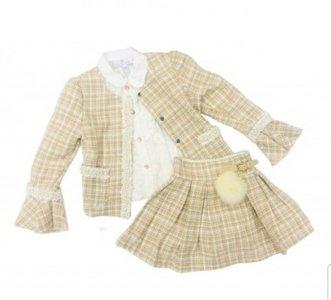 3delige Boutique collection Spanisch  Chanel look Style Beige  NEW 2-10 jaar