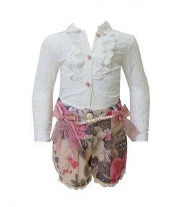 2delige Boutique collection Short met Blouse NEW 2-8 jaar