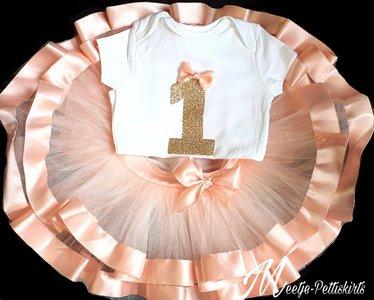 verjaardag Luxe tutu rok Handmade atelier Cijfer 1 tm 8 jaar