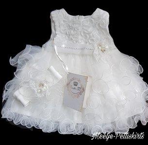 Baby jurk bruiloft en Doop Luxe Layered ivoor Couche Tot 0-24 maanden