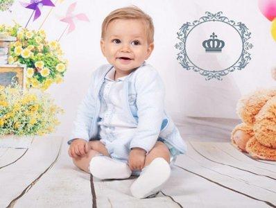 baby set Luxe  Vestje - top - broekje Blauw + NEW
