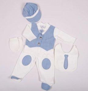 Baby Boxpakje Kostuum Onesie 4delig Blauw