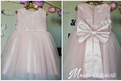 Licht roze feestjurk Classic Lace top Atelier Handmade 50 tm 186