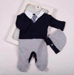 Baby Boxpakje stropdas donker blauw Onesie