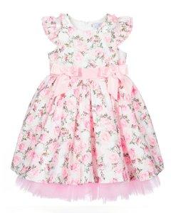 Bloemen jurk met tule en broderie Baby & Kids 56-128
