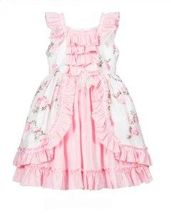Ruffel jurk met tule en broderie Baby & Kids 56-128